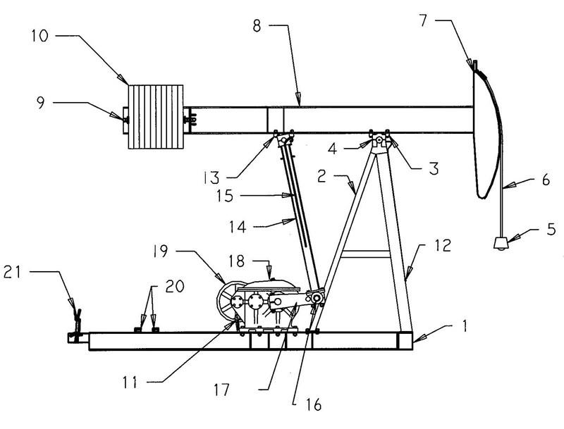 beam balanced pumping unit structure