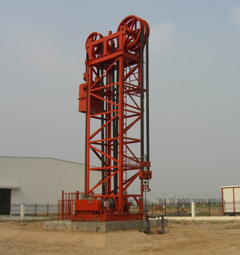 motor reversing tower pumping unit