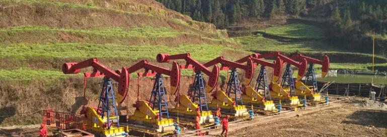 oil pump jack coal bed methane guizhou