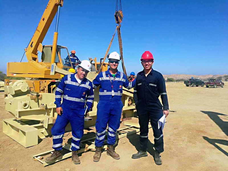 pump jack Project in Peru